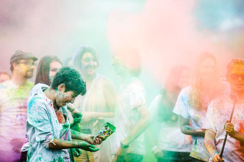 South Shore Colour Festival, Nova Scotia Canada Colour Festivals Colours Festival Of Colours Focus On Foreground Fun Fun Times Holi Portraits Powder