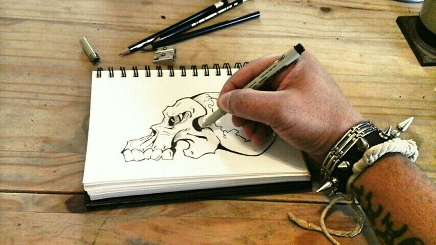 sketching skulls is one of my favorite stress killers.......Sketching Art Notes From The Underground Dark Art Gothic Artistic Expression Sketchbook Art, Drawing, Creativity