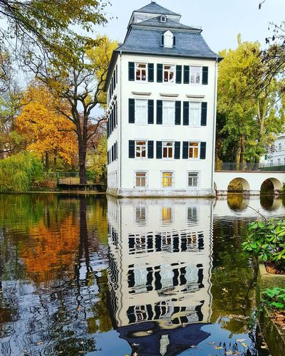 Reflection Built Structure Architecture Building Exterior Water Day Outdoors No People Tree Nature