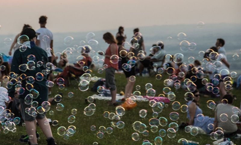 Mid-summer evening celebrations... People People Watching Streetphotography Solstice Capture The Moment Bubbles Bubbles... Bubbles...Bubbles.... Summer Summertime Celebration Large Group Of People Leisure Activity Capturing Movement Outdoors Festival Picnic Floating Countryside Street Photography