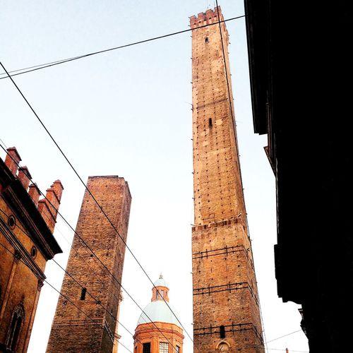 Italy Bologna Towers Due Torri Landmark Monument Architecture Urban Historic