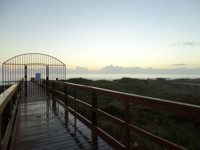 Really good times. October 2015 Beach Bridge Composition Florida Footbridge Perspective Railing Reflection St. Augustine, FL  Steps The Way Forward