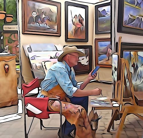 Adult Art Art Show Day Desk Human Hand Indoors  Leisure Activity Men One Person People Sitting Vail  Vail Colorado Vail,co Vailsummer Women