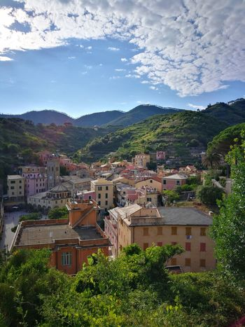 This is one of the first views of Monterosso al Mare that you get on the trail. View From Above High View Of The City Monterosso Al Mare Cinque Terre Monterosso Al Mare Cinque Terre Cinqueterre Cinque Terre Liguria Cinque Terre, Cinque Terre Italy Cinque Terre Cityscape Liguria,Italy Liguria Liguria, Italy Ligurian Coast. Liguria Di Levante Ligurian Riviera Tree City Cityscape Mountain High Angle View Sky Architecture Building Exterior Mountain Range TOWNSCAPE Mountain Peak Mountain Road Countryside Valley