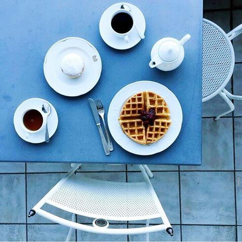 Good Morning EyeEm Whats For Breakfast? Waffle Coffee Doughnut
