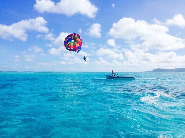 EyeEm Selects Sea Sky Water Cloud - Sky Nature Parasailing Saipan