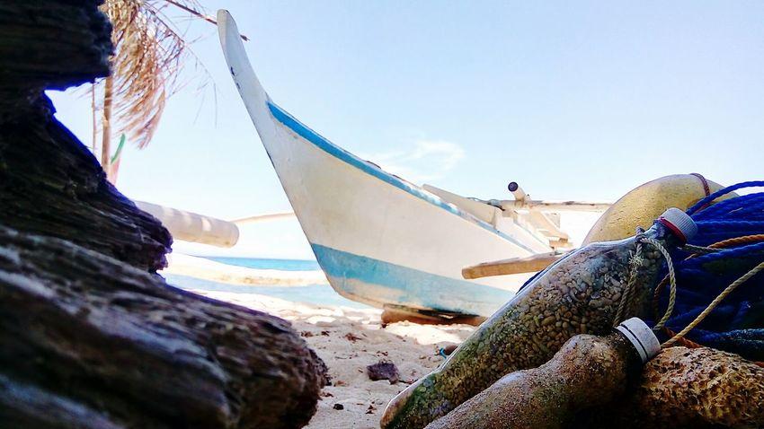 Bato sa batelya Mobilephotography Selinog Island DapitanCity Phillipines Island Life Boat Whitesand Water Nautical Vessel Sea Beach Moored Fishing Net Sky Fishing Boat Fishing Equipment