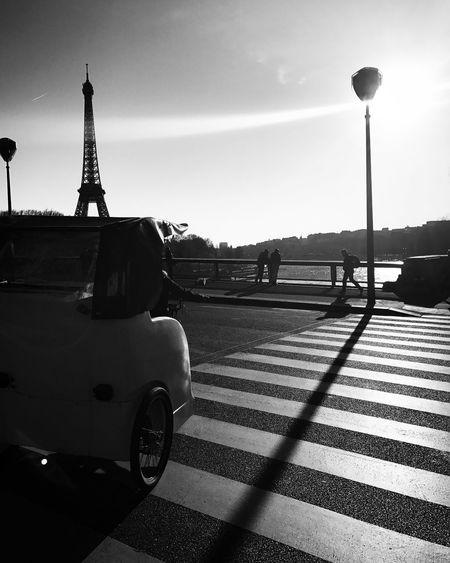 Paris Daylight Endoftheday Shadow Sunlight Bridge Architecture Travel Destinations Blackandwhite