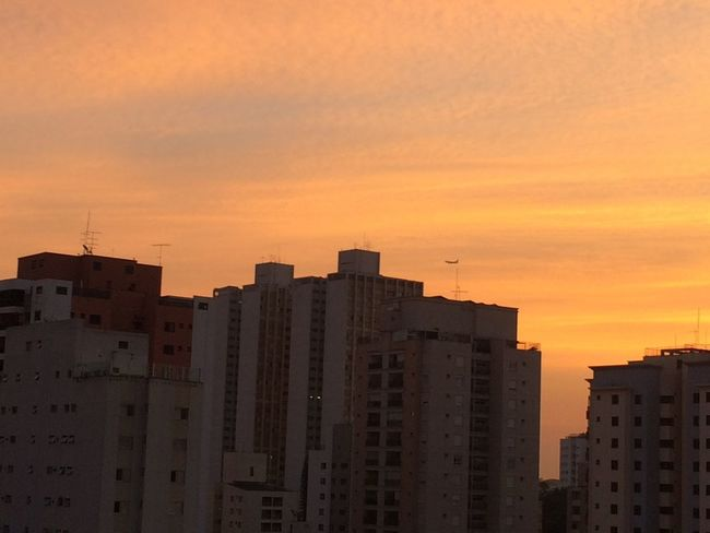 SAO PAULO BRAZIL Enlight EyeEm EyeEm Team Photofox Sao Paulo - Brazil Apartment Architecture Building Exterior Built Structure City Cityscape Day Nature No People Orange Color Outdoors Progress Sky Skyscraper Sunset