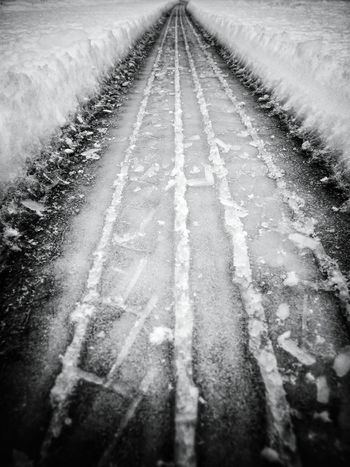 tire track on snow Black And White Collection  Blackandwhite Photography Black And White Photography Black&white Black & White Black And White Blackandwhite Track Tracks In Snow Tracks Snow Tracks In The Snow EyeEm Best Shots - Black + White Tire Tracks Tyre Tracks