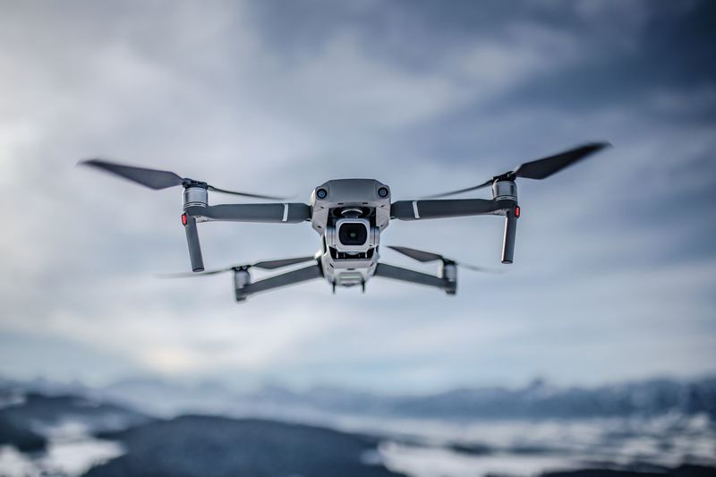 Technology Flying Mid-air Drone  Low Angle View Air Vehicle Flying Drone Dji DJI Mavic Pro Dji Mavic 2 Pro Mavic 2 Pro Selective Focus Background Blur