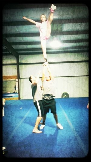 stuntin at practice tonight we mama bound baby!