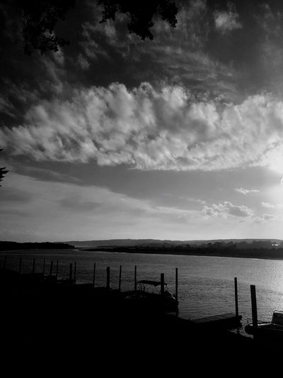 Black And White Friday Tranquil Scene Horizon Over Water