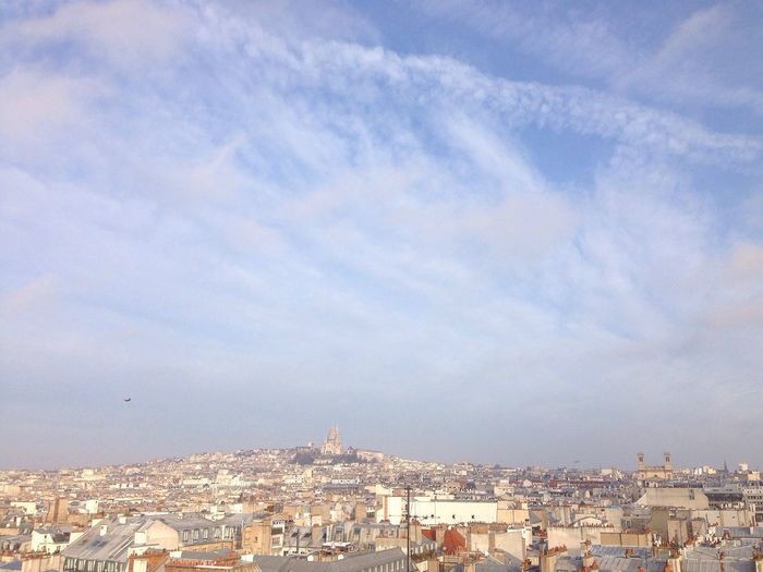 Paris Panorama Cityscape Rooftop Sunny Sunny Day Sacre Coeur Montmartre Gare Du Nord
