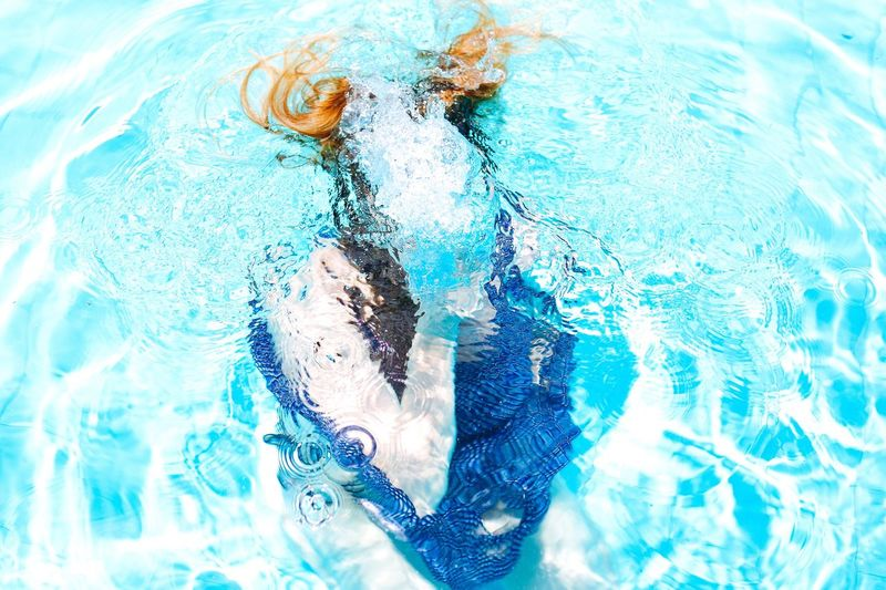 Full frame shot of water in swimming pool
