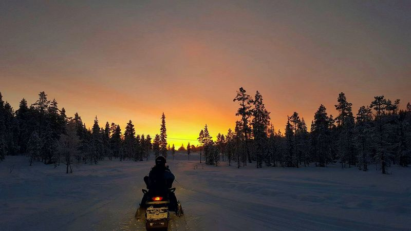 Finding New Frontiers Finland Snowmobile Adventure! FinlandsWinter Outdoors Sunrise_Collection Winter Snowmobiling