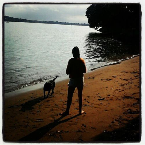 Morning time at homebay! Bonnie enjoying her swim with Olivia Homebay