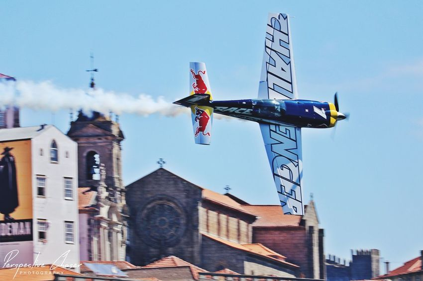 EyeEm Selects Blue Sky Plane Race Air Race RedbullEvents Red Bull Air Race Oporto Travel Destinations Race Planes