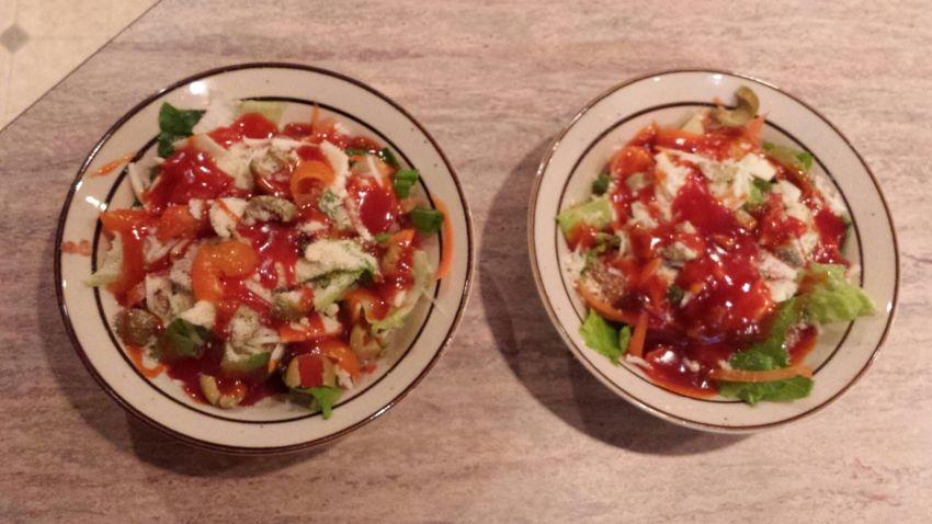 yumm salad for dinner