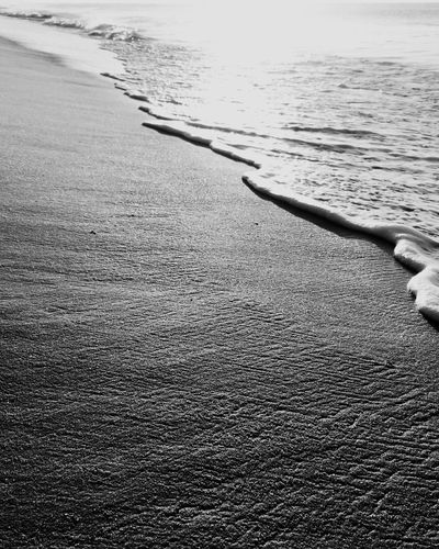 Sea Water Beach Nature Sand Outdoors Day Tranquility Scenics Sunrise Porto Seguro, Bahia Blackandwhite Black And White Black & White Beauty In Nature No People The Week On EyeEm