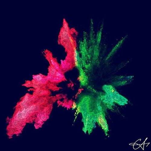 Redandgreen Coloursplash Vibrant Abstract Curious Fascination. XeresArk