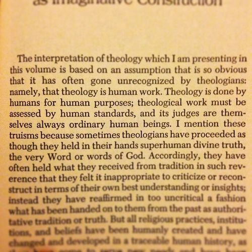 Truism Theology Human Work Grasping towards the Divine