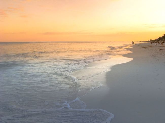 Sea Water Sunset Sky Land Beach Scenics - Nature Beauty In Nature Horizon Over Water Tranquility Horizon Orange Color Motion Idyllic Sand Tranquil Scene Nature Wave Outdoors