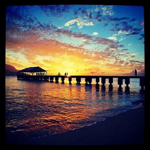 Hanalei Pier Posting Old Pics