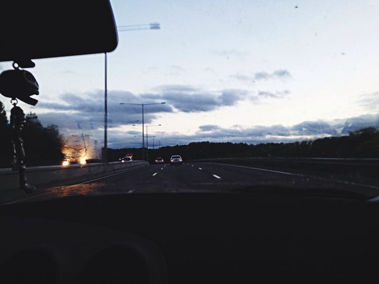 Skull Cars Sky Sunset