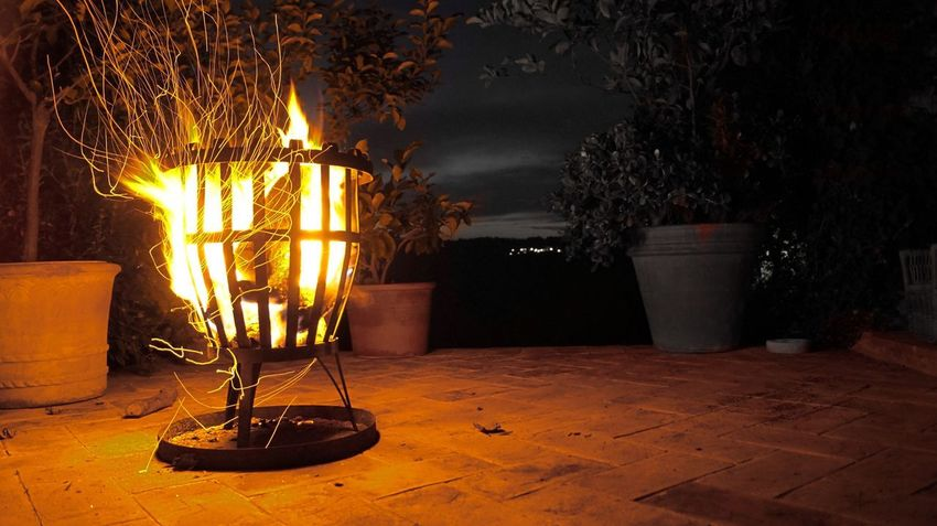 No People Plant Illuminated Fire Burning Table Lighting Equipment Nature Night Glowing Flame Still Life