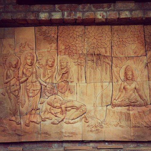 Glimpse of mayapur, carved wall of temple Glimpse Of Mayapur Iskcon temple lord krishna krishnaconsciousness me my instadaily all prabhujis mridanga greenery carved wall stone art early morning devotional pleasant lovely charming TagsForLikes follows instadaily instamood instagram