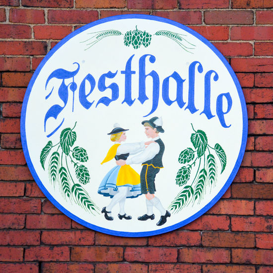 Festhalle 2 People 2 People Dancing Dancing Dancing Around The World Festhalle  German Sharon, PA Banquet Hall Brick Wall Close-up Communication Day Germany No People Outdoors Road Sign