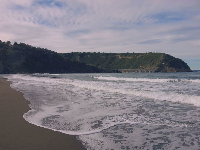 Sea Beach Nature Shore Water Sky Sand Beauty In Nature Landscape No People Scenics Wave Tranquility Outdoors Cloud - Sky Tree Day Mountain Scenery Procida Italy