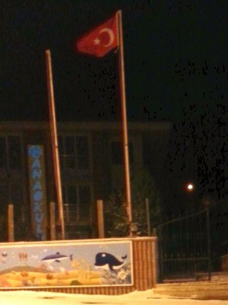 Türkbayragi şanlıtürkbayrağı Flag Anaokul şileincileri Hello World Hi! Istanbul Turkey Wanter  Night
