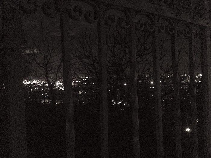 Illuminated lights at night