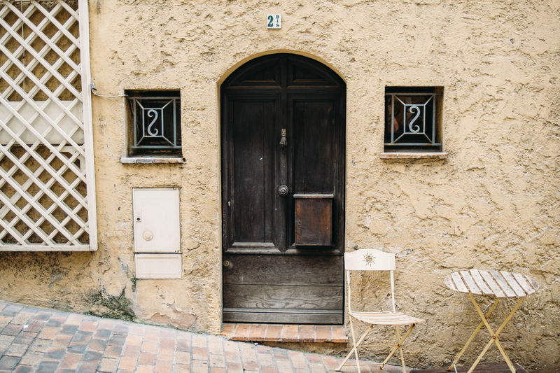 France Provence Wall Architecture Building Building Exterior Built Structure Chair Closed Door Entrance French House