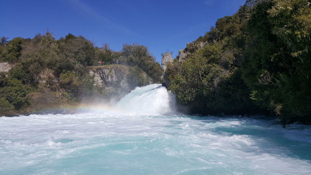 Huka falls ♡ Travel Nopeople Sky New Zealand Heart ❤ NZ EyeEm Selects Falls Huka Falls Sapphire Blue Rainbow🌈 Fresh On Eyeem  Vacations Travel Photography Water Tree Motion No People Nature Outdoors Beauty In Nature Power In Nature Day