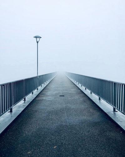 View of bridge over road against sky