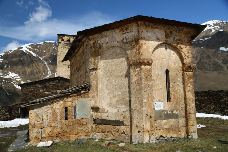 Built Structure Architecture Sky History Nature Old No People Building The Past Mountain Building Exterior Day Religion Abandoned Sunlight Old Ruin Damaged Ancient Arch Place Of Worship Outdoors Ancient Civilization Ruined Georgia Mestia/town In Svaneti/Georgia
