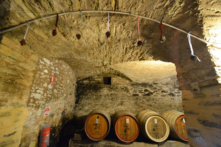 Architecture Barrels Of Wine Casks Cellar Curves And Lines Indoors  Winter