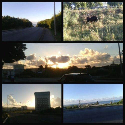Good morning!!! This week on running with michael lol Highway Neighbourhoodcow Sunrise