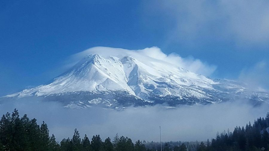 Shasta mountain Taking Photos Snowy Mountains Traveling Amazing Winter