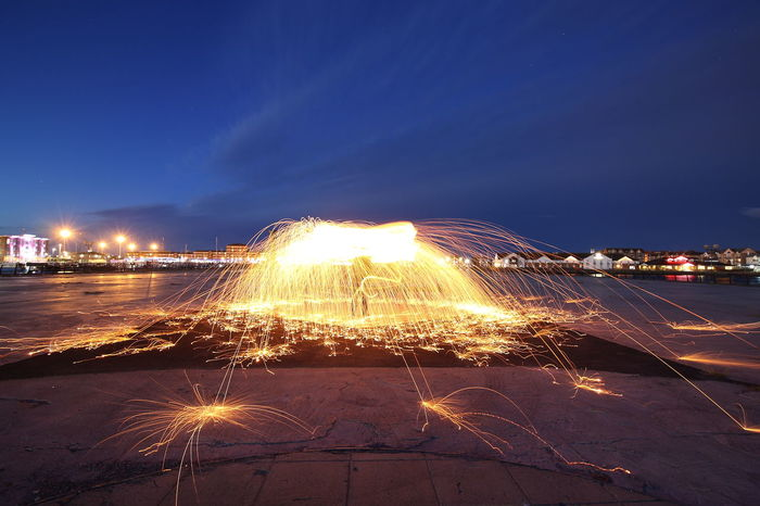 wire wool heaven EyeEm Best Shots Architecture Blurred Motion Building Exterior Built Structure Burning City Enjoying Life Eye4photography  Fire Glowing Illuminated Land Light Light Trail Long Exposure Motion Nature Night No People Outdoors Sky Street Transportation Wire Wool