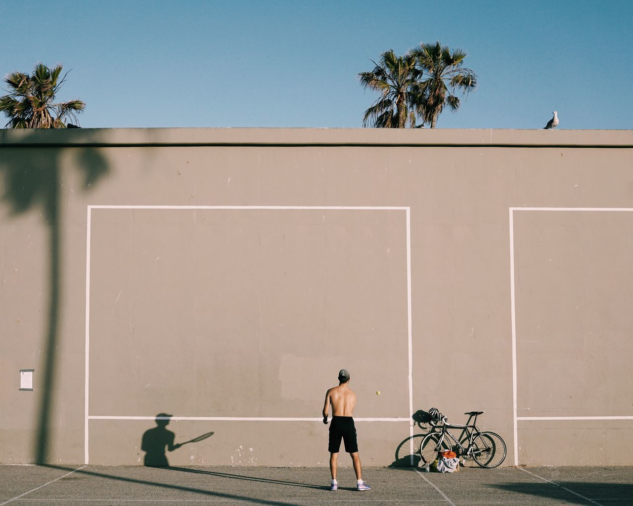 Bicycle,  Clear Sky,  Day,  Full Length,  Horizontal Image