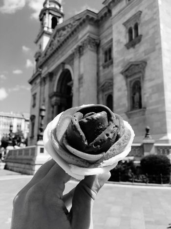 Human Hand Holding Building Exterior Architecture Built Structure Rose🌹 Budapest, Hungary St. Stephen's Basilica Gelato Real People One Person Human Body Part Outdoors Food And Drink Ice Cream Unrecognizable Person Focus On Foreground Indulgence Unhealthy Eating Frozen Food Temptation Sweet Food Ice Cream Cone City