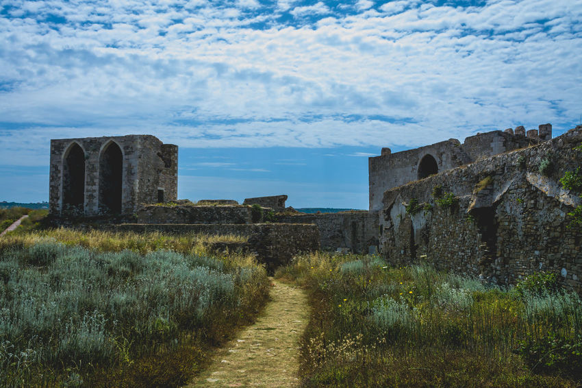 Castle of Methoni.. Ancient Ancient Civilization Architecture Building Exterior Built Structure Castle Cloud - Sky Day Grass Greece History Methoni Nature No People Old Ruin Outdoors Sky Wall - Building Feature