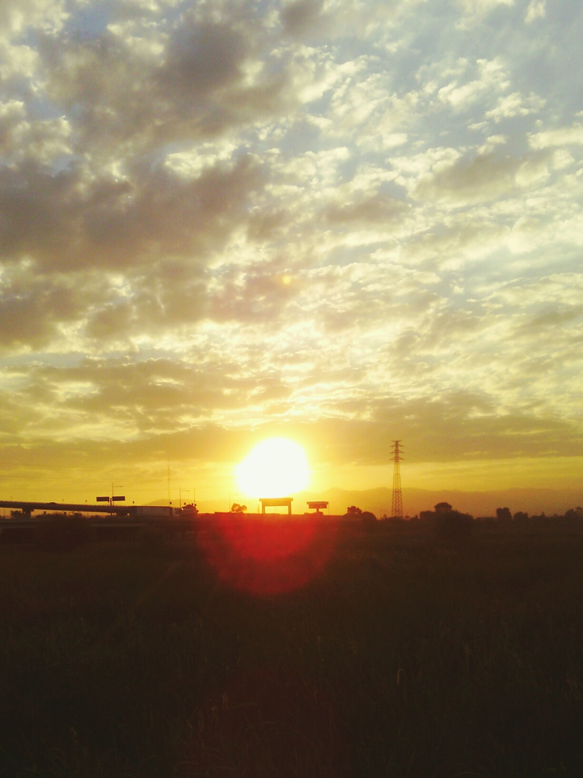 sunset, sunlight, sun, sky, sunbeam, beauty in nature, nature, cloud - sky, no people, field, outdoors, scenics, landscape, tree, day