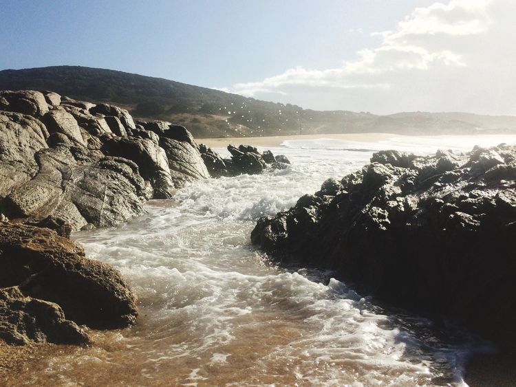Nature Sea Beauty In Nature Scenics Rock - Object No People Water Sky Day Outdoors Wave Crashing