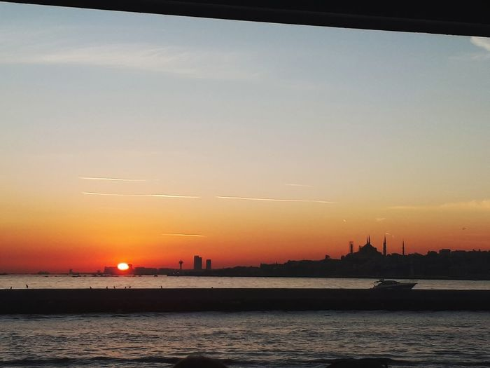 City Water Urban Skyline Nautical Vessel Sea Sunset Beach Beauty Cityscape Horizon