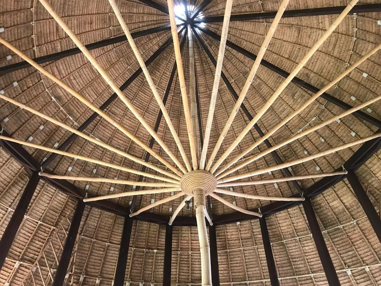 Low Angle View Ceiling Architecture Built Structure No People Full Frame Indoors  Day Sky